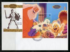 Disney Maldives Grenada Hercules 1998 Souvenir Sheet Vi First Day Cover