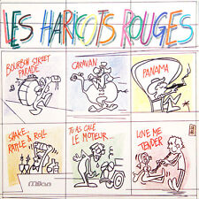 LES HARICOTS ROUGES llustration de Boss Au Dos FR Press Milan SLP 87 1980 LP
