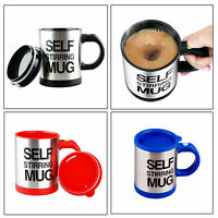 Automatic Self Stirring Coffee Mixing Cup Mug 400ml Electric Stainless Steel NEW