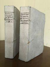 Zaccaria. Raccolta di Dissertazioni di Storia Ecclesiastica. Voll. XVI-XVII 1795