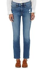 Frame Denim Womens Le High Straight Jeans Sunny Gardens Distressed Sz 24 NWT