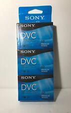 New listing Pack Of 3 Sony Mini Dv Dvc Digital Video Cassettes Premium 60 minutes