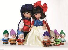 Precious Moments Disney Snow White, Prince, & Seven Dwarfs Set of 9 Dolls