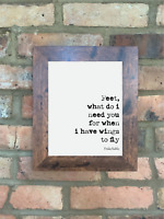 A4 Frida Kahlo Quote Print Letter Unframed Wall Art Minimalist