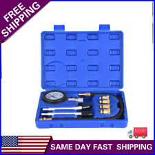 Cylinder Compression Tester Test Tool Kit Professional Mechanics Gas Engine US