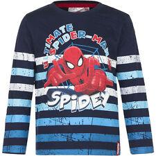 NUEVO Camisa Suéter Niños Spiderman Jersey Azul Rojo Gris 98 104 116 128 #75