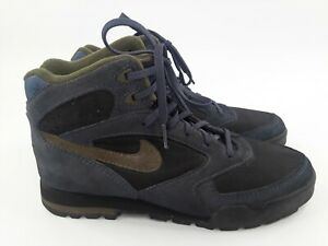 Vtg 90s 1993 Nike Blue ACG Hiking Leather Boots Sneakers 930507 Korea Size 8.5