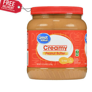 Great Value Creamy Peanut Butter, 64 oz FREE SHIPPING+BEST PRICE