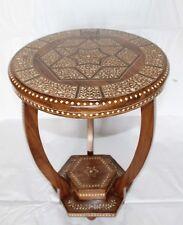 Bone Inlay Floral Design BedSide Table