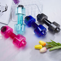 550ml Travel Dumbbell Shaped Sport Water Cup Kettle Exercise Bottle Drink Gym
