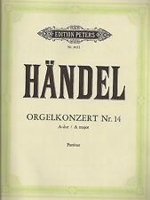 Händel - Konzert Nr. 14 für Orgel und Orchester  A-dur - Partitur