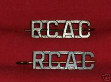 ROYAL CANADIAN ARMOURED CORPS Shoulder Title Badges