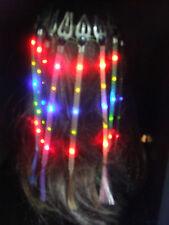24 pcs Assort Flashing Multicolor LED Lights Blinky Hair Braid Extension Costume