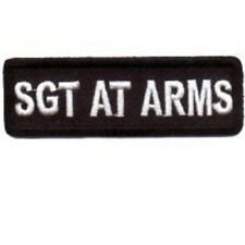 SGT AT ARMS BLACK 1 X 3 CLUB EMBROIDERED IRON ON BIKER PATCH