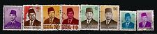 107T2 INDONESIE 8 timbres obliteres : Personnages importants