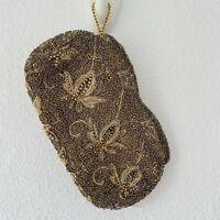Vintage Elegant Golden Formal Wedding Beaded Lace Hand coin purse Pocketbook
