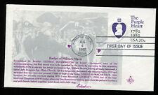 #U603 20c Purple Heart Envelope Fdc Nice Edsel Masonic Cachet Ua G311