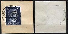 Löbau 21 Briefstück, 80 Pf. Hitler mit Aufdruck, gepr. Zierer BPP