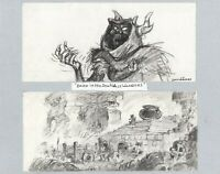 Black Cauldron 1985 Horned King Walt Disney Prod Double Animation Storyboard s
