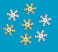 Snowflake Sequins Holographic Silver Gold Decorative 50g pack 1100 sequins