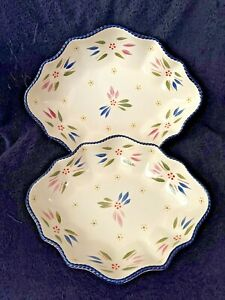 Temp-tations  Set of 2 Nesting Bowls -  Bakers Old World Confetti NEW