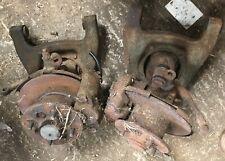 Sprite/Midget pair of steel wheel disc brake assemblies used -as photo