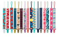 Nuby Printed Cloth Pacifinder Clip - 2 Pack - 0+ Months - Boy - Girl - BPA Free