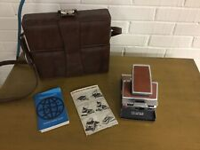 VINTAGE POLAROID SX-70 LAND CAMERA WITH CASE AND MANUALS