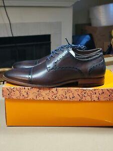 Tallia Orange Men's Vito Oxford - Brown Leather - New in Box - Sz 11,12,13