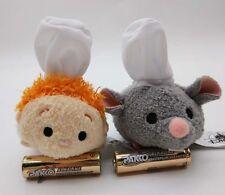 2017 Disney Store Tsum Tsum Ratatouille Remy Alfredo Linguin 3.5 Plush Doll 2pcs