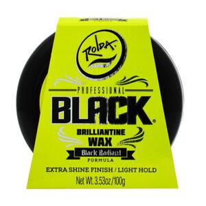 Rolda Black Briliante Wax Extra Shine Finish/Light Hold 3.53oz w/Free Nail File