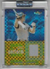 2004 Jason Giambi 3 card #'d relic lot- Oakland Athletics New York Yankees