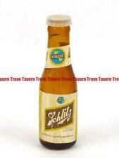 Original 1960s SCHLITZ BEER 4 inch tall mini bottle salt shaker with cap