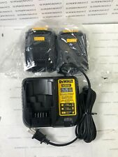 New 2 Dewalt Dcb201 20V Max Compact 1.5 Ah Ion Battery's & Dcb107Charger 2020