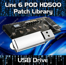 4000+ LINE 6 POD HD500 PRE-PROGRAMMED TONE PATCHES USB - GUITAR EFFECTS