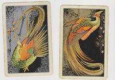 EXOTIC BIRDS OF PARADISE X 2 ONLY SINGLE VINTAGE PLAYING/SWAPCARDS