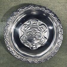 "Northwest Pewter Co. Alaskan Bowl Native American Indigenous Eagle Design 8"""