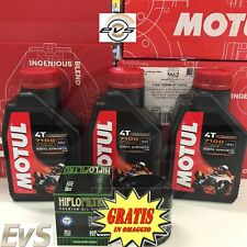 3 Litri Motul 7100 10W40 Olio Motore Moto + Filtro Olio Hiflo