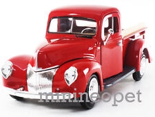 MOTORMAX 73234 1940 40 FORD PICK UP TRUCK 1/24 DIECAST MODEL CAR RED