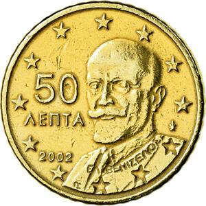 [#772828] Grèce, 50 Euro Cent, 2002, TTB, Laiton, KM:186