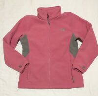 North Face Fleece Jacket Full Zip Dusty Rose Pink Gray Girls Sz XL Womens Small