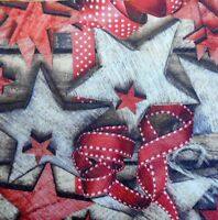 4 x SINGLE PAPER NAPKINS- CHRISTMAS ORNAMENTS, STARS - DECOUPAGE AND CRAFT-89