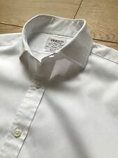 GORGEOUS WHITE TM LEWIN 100 SLIM FIT DOUBLE CUFF SHIRT 15.5 COLLAR 33 SLEEVE