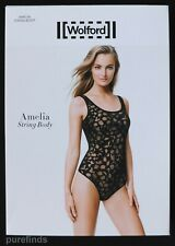 WOLFORD AMELIA STRING BODY 79133, XS, SHEER in black, New in box
