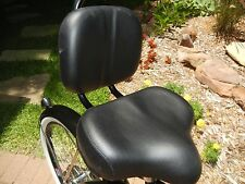 BICYCLE BLACK SEAT W/BACK REST BEACH CRUISER COMFORT BIKES TRICYCLE NEW !