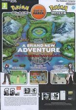 "Pokemon Black / White ""Nintendo DS"" 2011 Magazine Advert #4395"