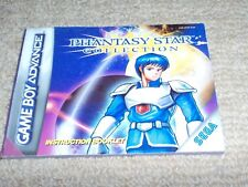 Phantasy Star Collection – nintendo game Boy advance Manuale Istruzioni