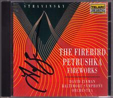 David ZINMAN Signed STRAVINSKY Feuervogel L'Oiseau de feu Firebird Petrushka CD