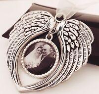 En mémoire de Pet Chien Chat deuil porte-clés Commémoratif Ange Aile Paw Print cœur