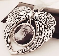 Personalised Photo Tree Decoration Angel Wings In Memory of Christmas Gift